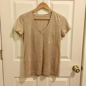 *NWT~ J. Crew Gold/Tan Metallic Linen T-shirt